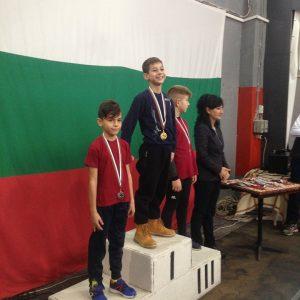 Пламен Герасимов-3 б-златен на 60м от международен коледен турнир по лека атлетика-2019 г.